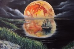Blood Moon on Beaufort North Carolina