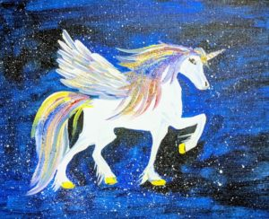 Mystical Rainbow Horse