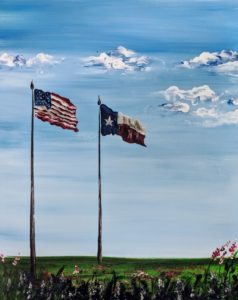 America & Texas Flags