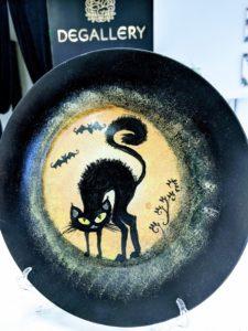Halloween Cat Plate