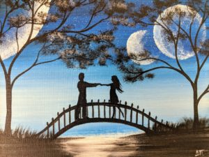 Lovers on Bridge