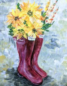Sunflowers & Boots
