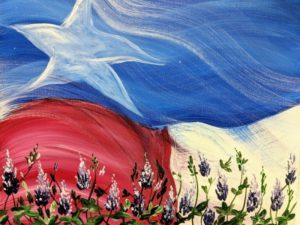 Texas Flag & Bluebonnets
