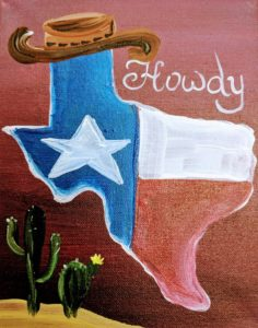Howdy Texas Map