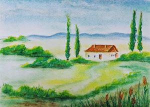 House, Pastel